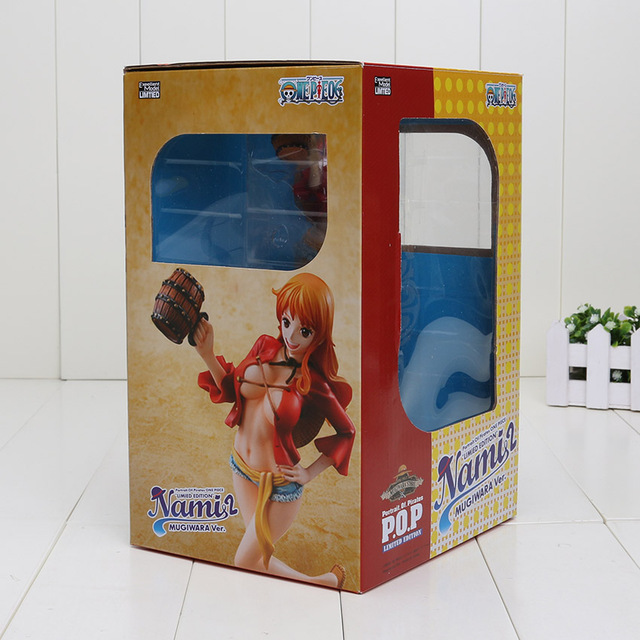 One Piece Nami Dressed in Luffy Outfit PVC Anime Figure