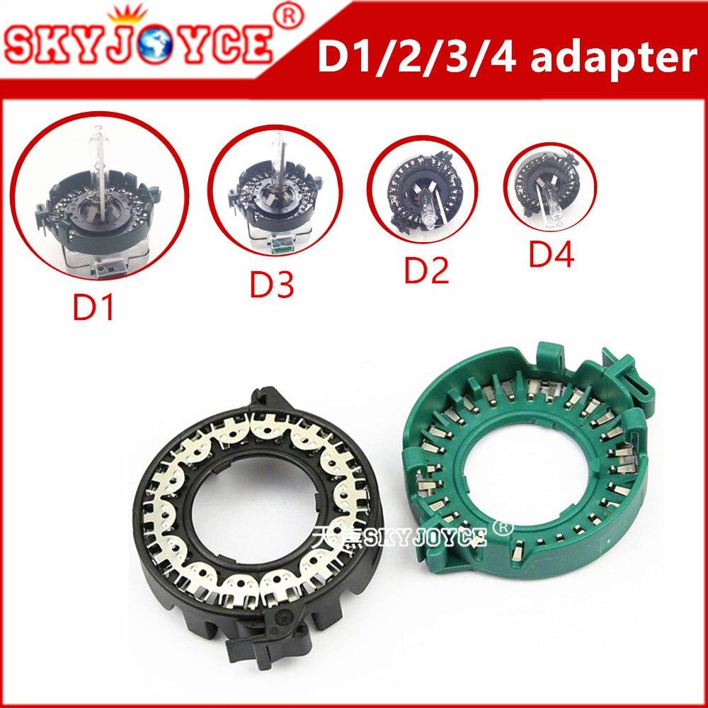 2X adapter D1S D1R D1C Metal Clip Retainer base adapter D1 D3 D2S D4S adapter HID Xenon Bulb Light Convert Holder socket Adapter