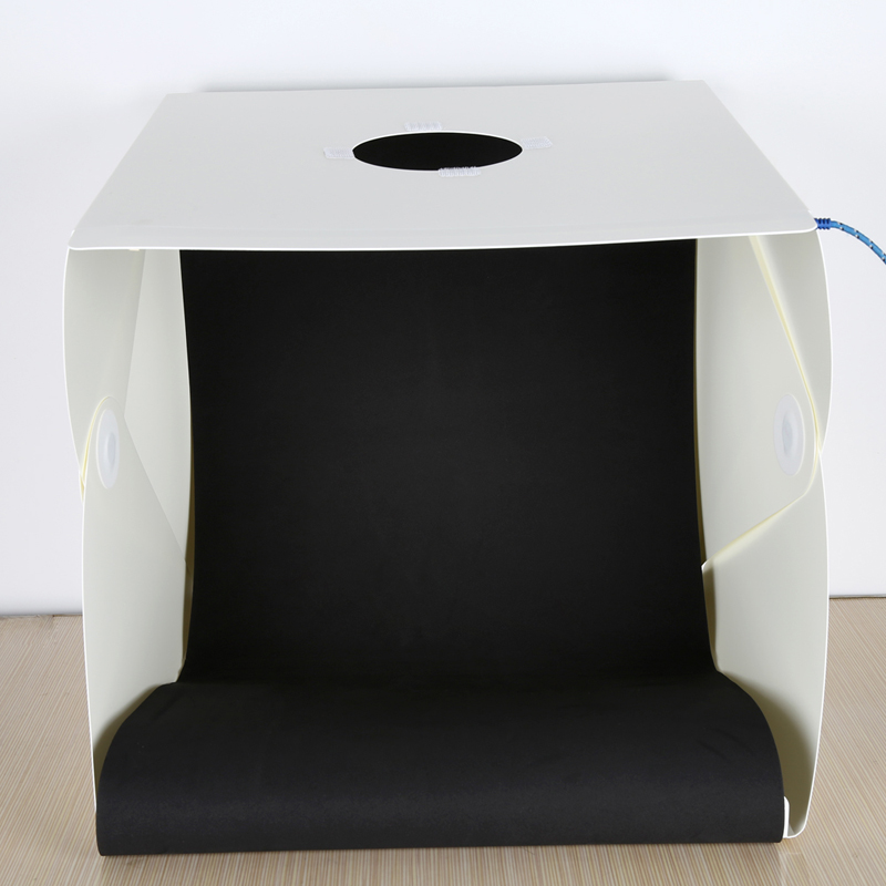 Large Folding Studio Diffuse Soft Box with LED Light Black White Background Photo Studio Accessories 2016 New product