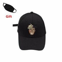a3a4ff6df490b Masque comme Cadeau XXXTentacion casquette de baseball hip-hop hommes  femmes Rappeur Bboy Popper Casier Danseur DJ brodé chapeau.