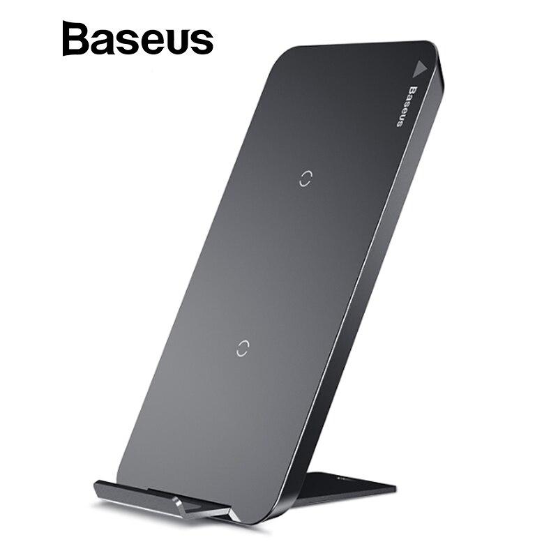 Baseus 10 watt Schnelle Drahtlose Ladegerät Für iPhone X 8 Samsung S8 S9 S9 + Hinweis 8 Schnelle Qi Wireless sicher Lade Desktop Ladestation