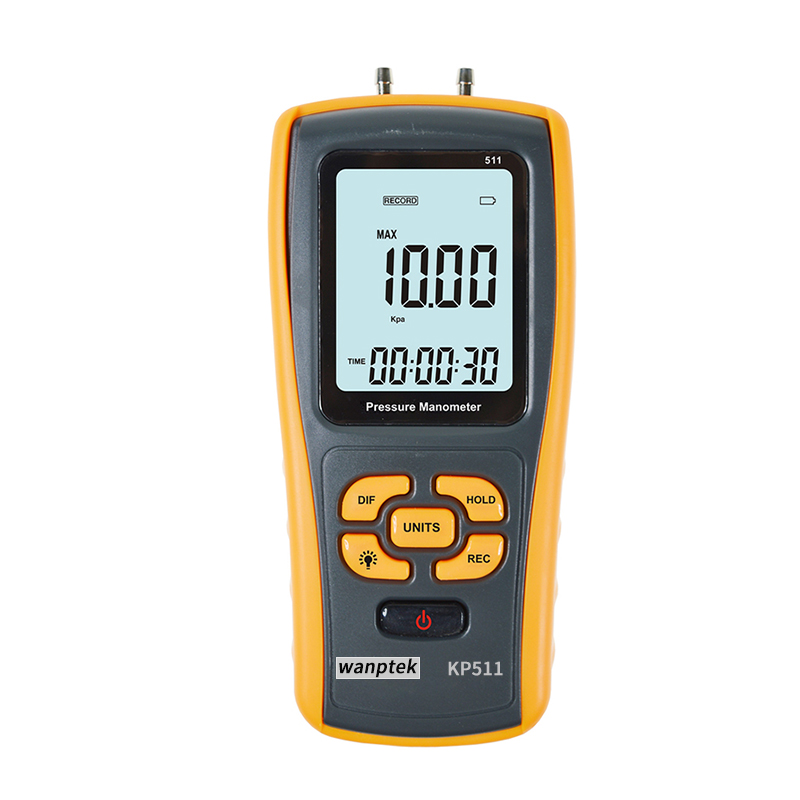 Digital pressure manometer with USB Interface range +/-10kPa differential manometer lcd pressure gauge differential pressure meter digital manometer measuring range 0 100hpa manometro temperature compensation