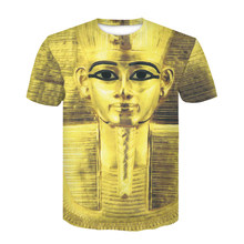 Devin Du Brand 3D T Shirt Pharaoh of Egypt Print Men Women Tshirt Mummy Painting T-shirt Tee Tops Plus size M-4XL Dropship(China)