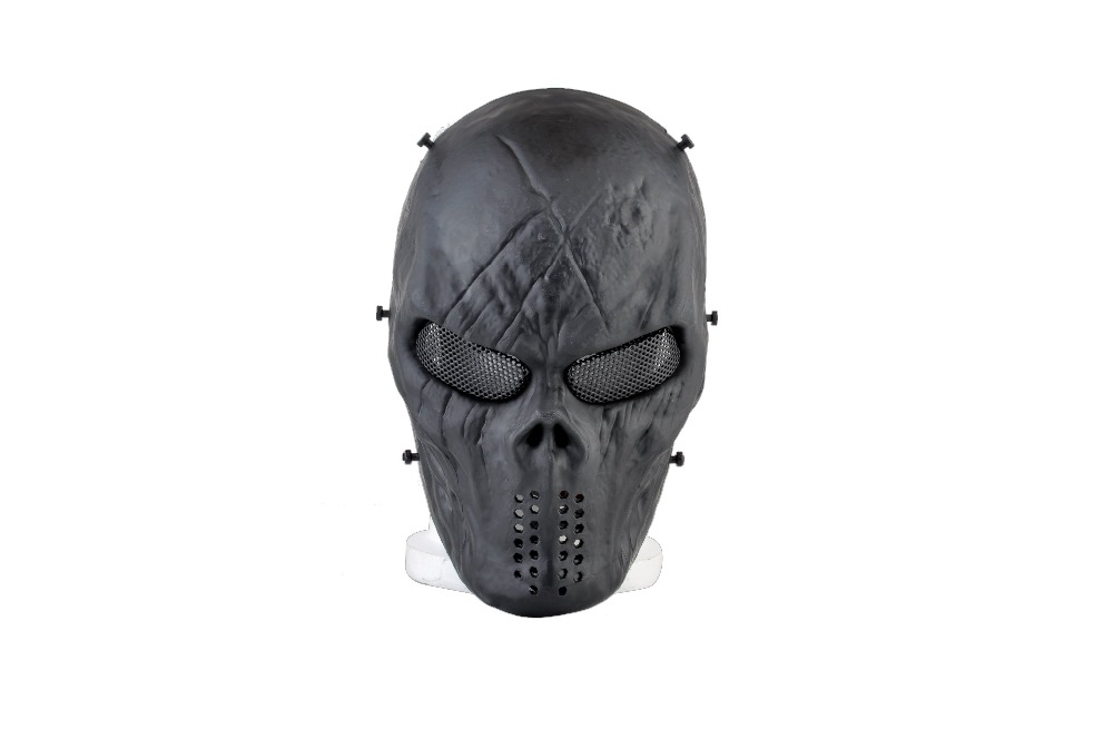 Chief M06 ABS Full Face Mask with Metal Mesh Adjustable Eye Protection Airsoft Military Paintball God Cosplay Mask terminator full face mask skull mask airsoft paintball mask masquerade halloween cosplay movie prop realistic horror mask