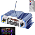 HY601 Blue 2 Channels Hifi Mini Digital Car Audio Stereo Power Amplifier Sound Mode Audio Music Mp3 Player Support USB / FM / SD