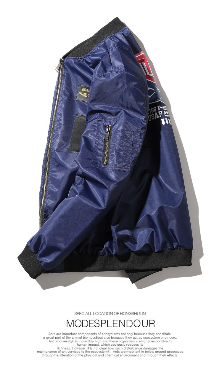 Aolamegs Men Bomber Jacket US Force MA1 Flying Jackets Military Style Baseball Uniform Army Green Black Navy Plus Size 4XL 5XL (15)