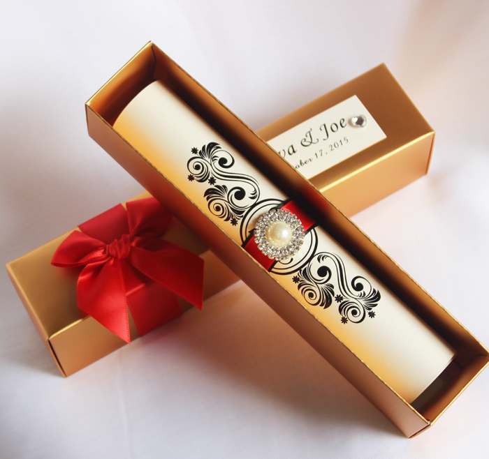 Explosion Box Wedding Invitations 11