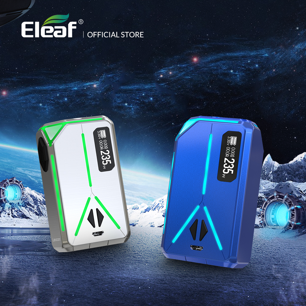 Original Electronic Cigarette Mod box Eleaf Lexicon Mod 235W max Support ELLO Duro Atomizer 6.5ml Vape