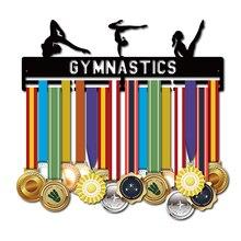 DDJOPH เหรียญกีฬาแขวนสำหรับ Gymnast เหรียญแร็คยิมนาสติกเหรียญแขวน 40 ซม.ถือ 32 + เหรียญ