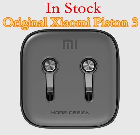 100% Original Xiaomi Piston 3 Hybrid Capsule Bass Earphones With Remote & Mic For Phone MI4 5 Hongmi Note Retail box Top Quality