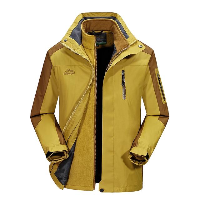 mas fiable muy baratas artesanía exquisita € 55.7 60% de DESCUENTO|Nuevo dos piezas de los hombres chaqueta de  invierno cálido forro polar desmontable impermeable chaqueta cazadora  hombres ...