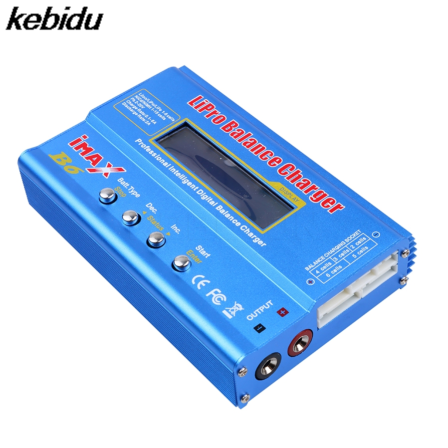kebidu IMAX B6AC RC B6 AC Nimh Nicd lithium Battery Balance Lipo Battery Charger Balance Discharger with Digital LCD Screen 1s 2s 3s 4s 5s 6s 7s 8s lipo battery balance connector for rc model battery esc