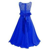 High Quality Elza Anna Girls Princess Wedding Dress Party Fantasia Vestidos Infants Children Dresses Kids Custom