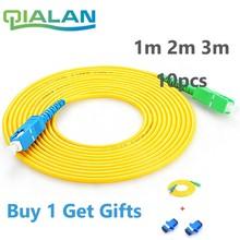 Ftth Cable SC APC to UPC Patchcord 10pcs 1m 2m 3m  Patch Cord G657A Simplex 2.0mm fibra Optico SM Fiber Optic Jumper