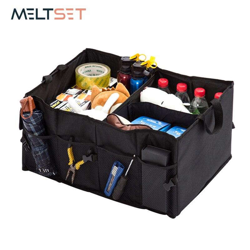 Precise Car Trunk Organizer Adjustable Backseat Storage Box High Capacity Oxford Car Seat Back Storage Bag Truck Cargo Container Holder