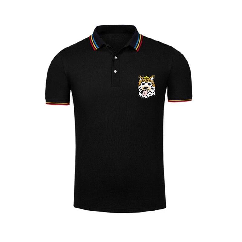 True Reveler Brand Clothing Embroidery Dog Polo Shirts Men Short