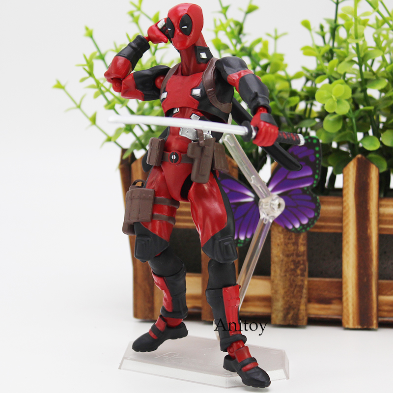 Figma Marvel Deadpool DX ver. Non Scale ABS & PVC Action Figure Collectible Model Toy 16cm fire toy marvel deadpool pvc action figure collectible model toy 10 27cm mvfg363
