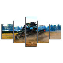 Canvas Printed Poster Modern Home Decoration 5 Pieces Pubg Painting Game Character Wall Art Pictures Cuadros Living Room Modular(China)