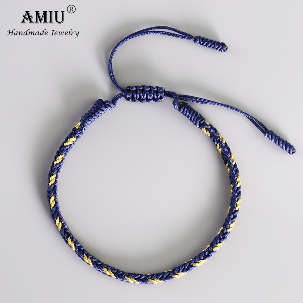 Handmade Tibetan Buddhist Lucky Rope Bracelet Men Loyalty