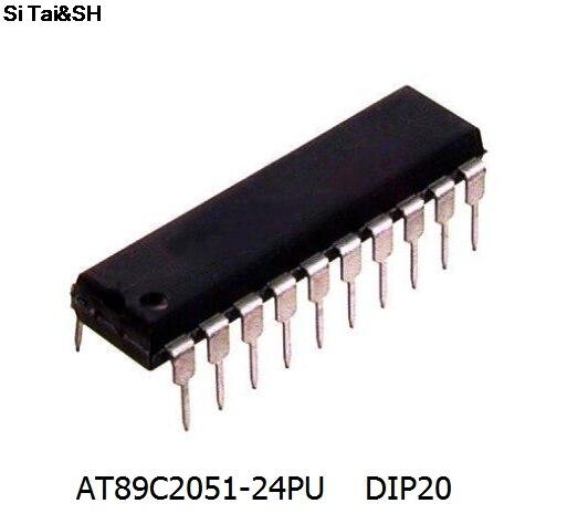 2 teile/los Linie AT89C2051-24PU mikrocontroller 8 8051 2K Flash DIP-20 neue original