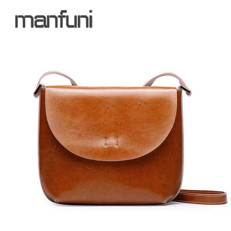 Simple Women Messenger Bag Genuine Leather Flap Female Small Crossbody Bag For Phone Lady Cute Fashion Shoulder Bags For Girl 2017 summer metal ring women s messenger bags solid scrub leather women shoulder bag small flap bag casual girl crossbody bags