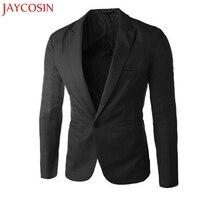 2017 Charm Men S Casual Slim Fit One Button Suit Blazer Coat Jacket Tops Men Fashion
