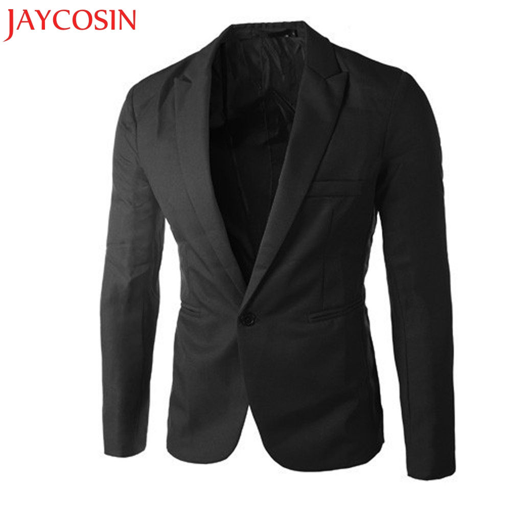 2017 Spring Autumn summer Charm Men s Casual Slim Fit One Button Suit Blazer Coat Jacket