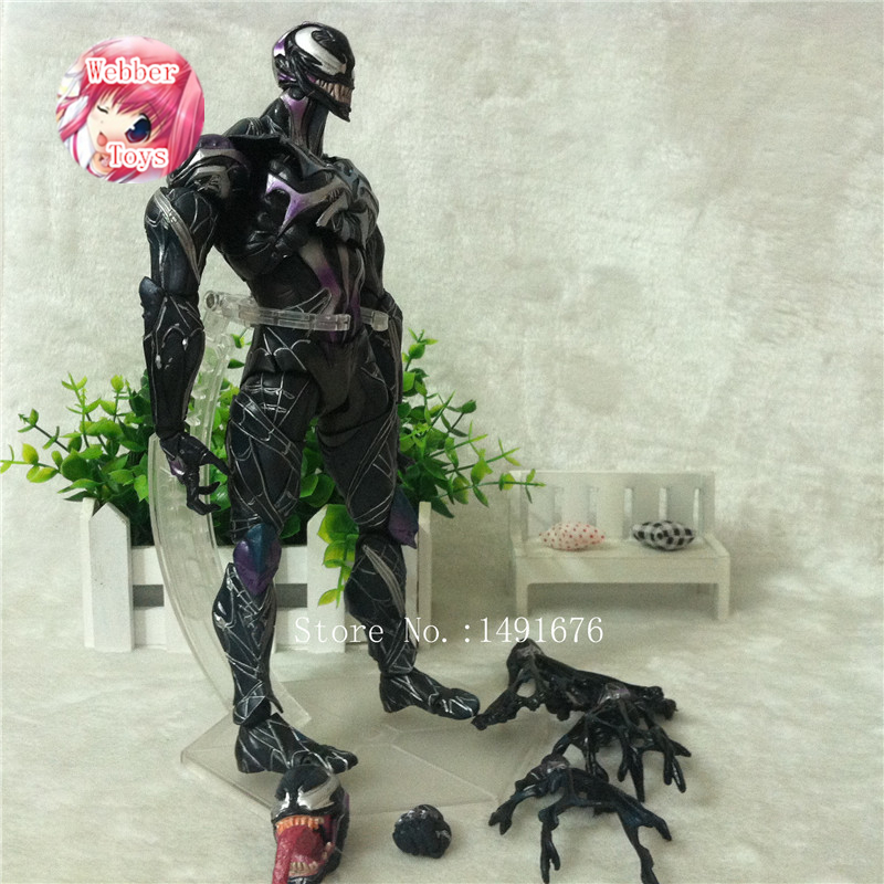 цена Spider Man Action Figure Venom Spride Collection Model Toys Play Arts Kai Action Figure Amazing Spiderman Play Arts Venom