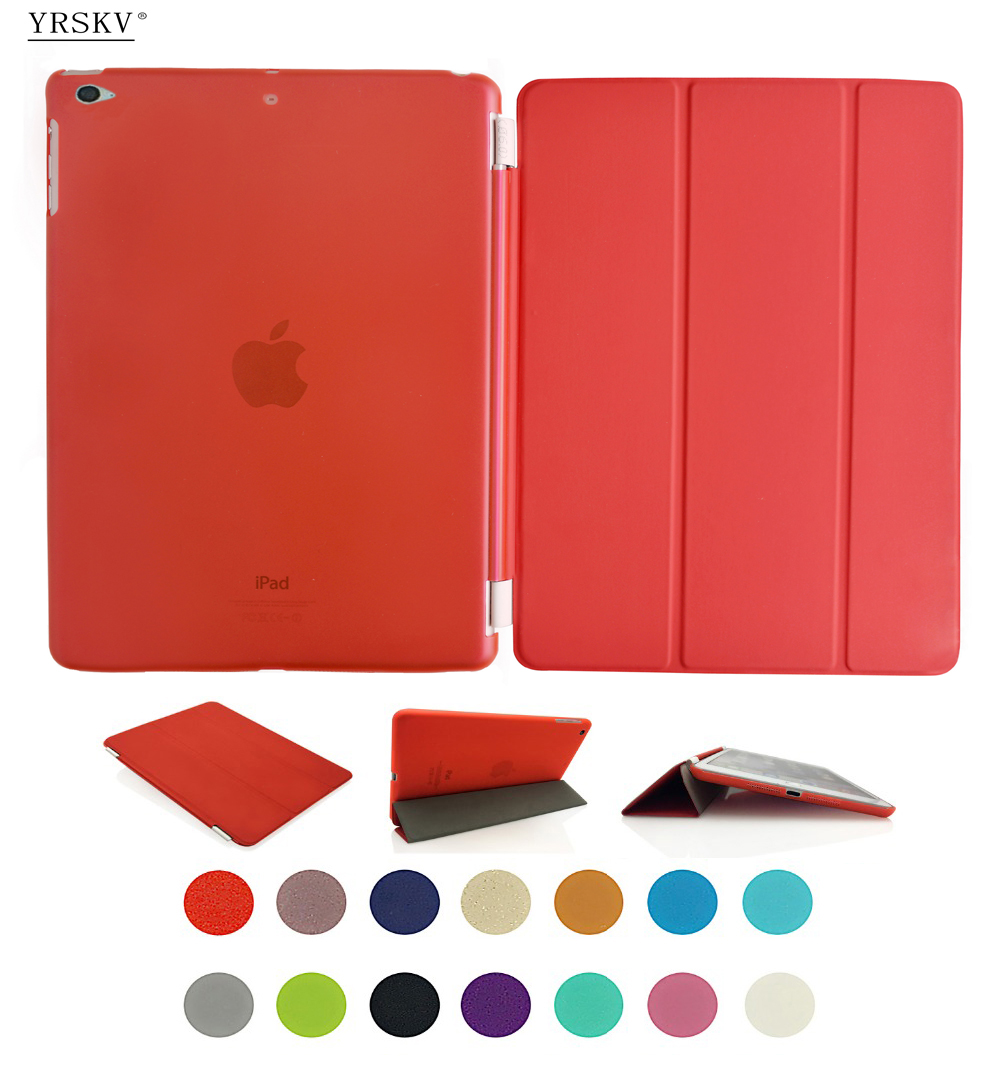 Case for iPad mini 4 YRSKV Separate PU Leather Slim Magnetic Front Smart Cover Skin + Hard PC Back Case For Apple iPad slim smart case for ipad mini 1 2 3 4 pu leather smart cover transparent pc hard back case tri fold stand for apple ipad mini 4