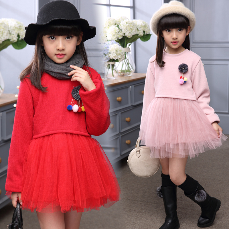 2 3 4 5 6 7 Years Princess Dresses For Girls Long Sleeve Winter Teenagers Girls School Uniform Infant Party Dress Girls Clothes