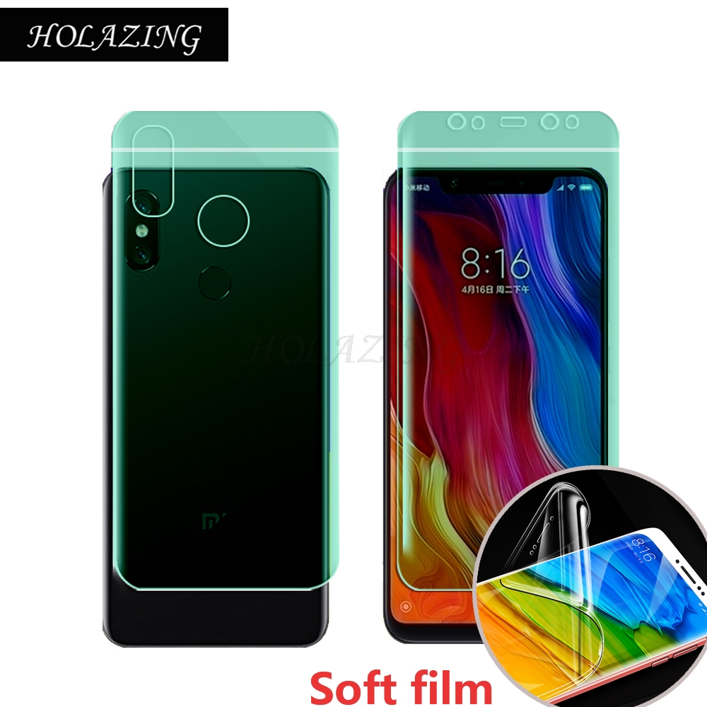 HOLAZING New No Required Water Hydrogel Film 4D Full Coverage Screen Protector for Xiaomi Mi 8 6.21