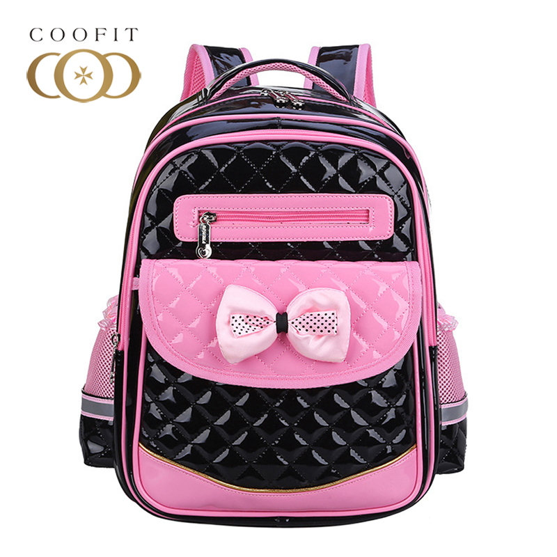 Coofit Cute Bowknot Students School Backpack For Girls Kids Candy Color Diamond Lattice Princess PU Leather Bagpack For Children causes for low achievement among school final students