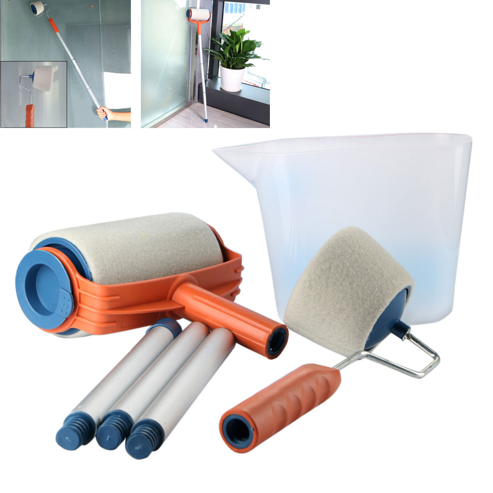 Clearance Price Multifunction Paint Roller Brushes Tools Household Sets Use Wall Decorative Painter Painting Brush Hand Tool
