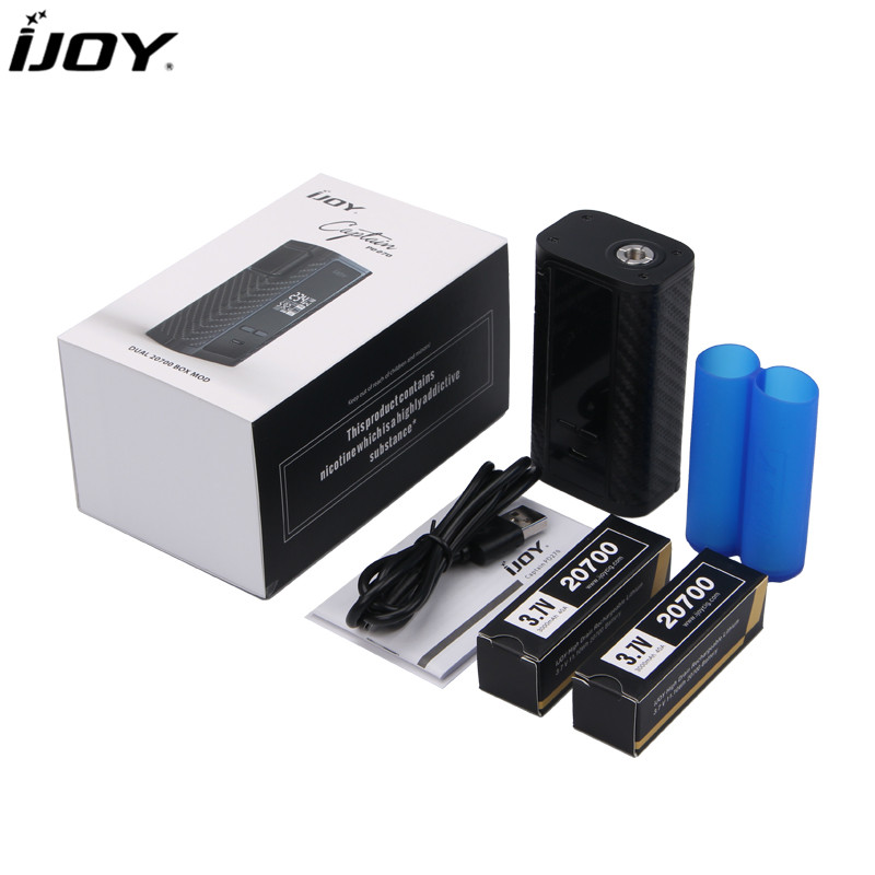 100 Original IJOY Captain PD270 234W OLED Screen Box Mod Powered by Dual 20700 Batteries