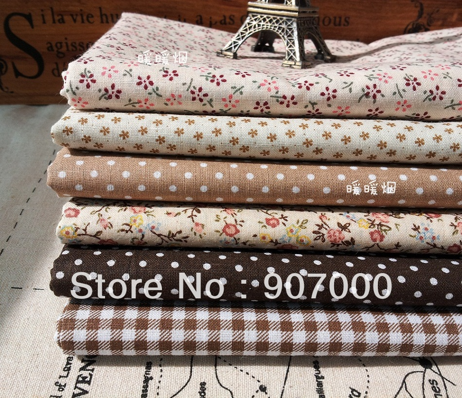 wholesale diy craft brown floral quilting fabric shabby chic patchwork fabric cotton textile. Black Bedroom Furniture Sets. Home Design Ideas