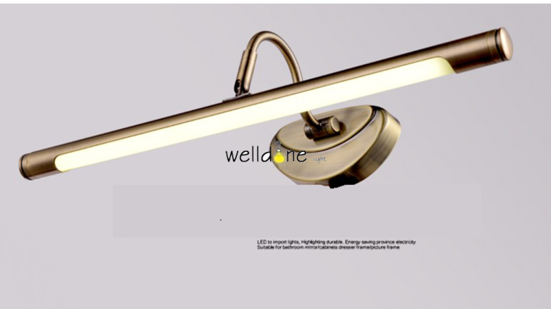 Spiegellamp Voor Badkamer : Badkamer spiegel lamp waterdicht retro brons kast spiegel