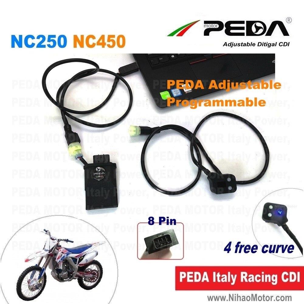 Moto réglable course CDI NC250 NC450 Zongshen RX3 RX4 DC programmable 4 carte illimitée bobine d'allumage Asiawing kayo esb mot