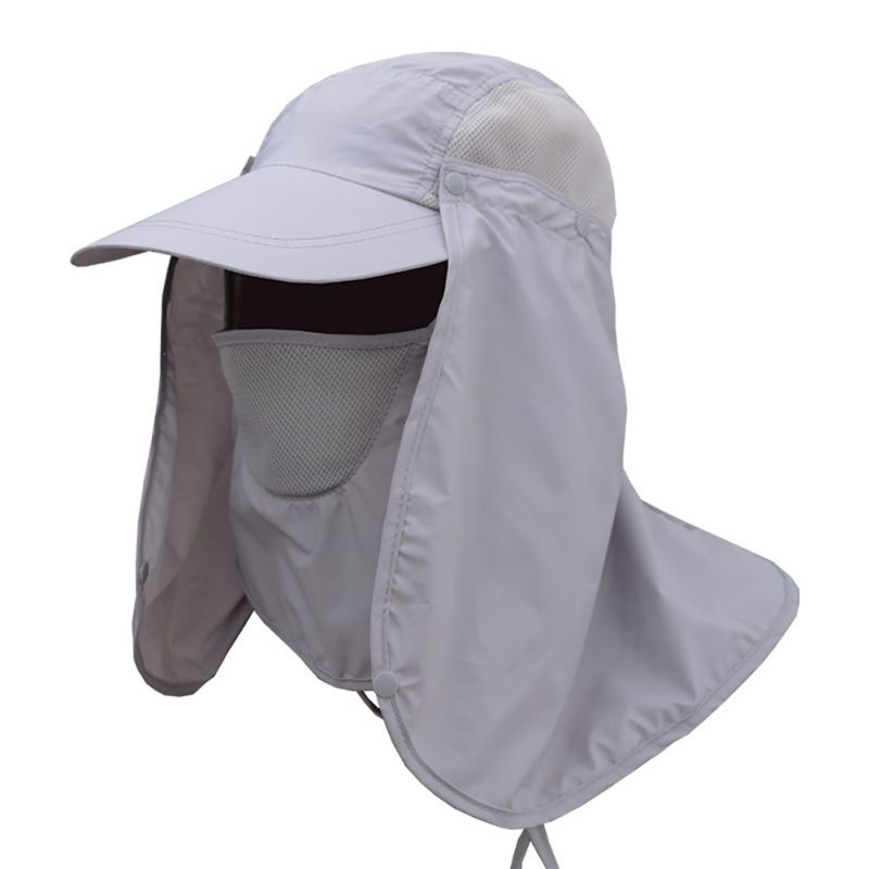 Unisex Outdoor Sport Fishing Hiking Hat UV Protection Face Neck Flap Man Sun  Cap-in Fishing Caps from Sports   Entertainment on Aliexpress.com  9a6352393ba