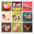 Adereços para a fotografia do bebê bodysuit + chapéu headband da flor 2 pcs set newborn lace 9 cores estilos estúdio foto clothing traje