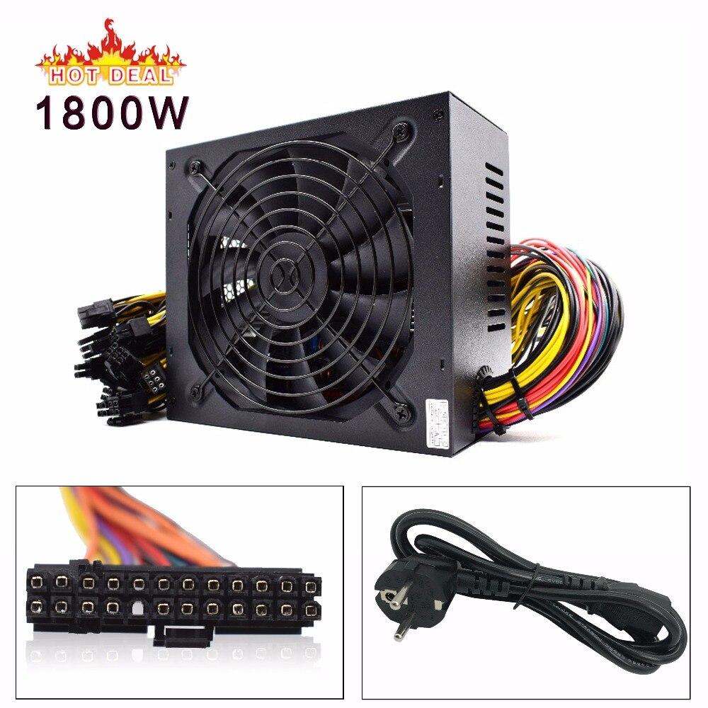 1800 w alimentation pc ATX Mineur BLOC D'ALIMENTATION Pour ATX Machine D'extraction Support 6 pièces Carte Graphique GPU Miner antminer