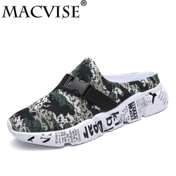 Men's Croc Clogs Shoes Sandals Casual Slip-on 2018 New Summer Hollow-out Water Breathable&light Slippers Flip-flops for men