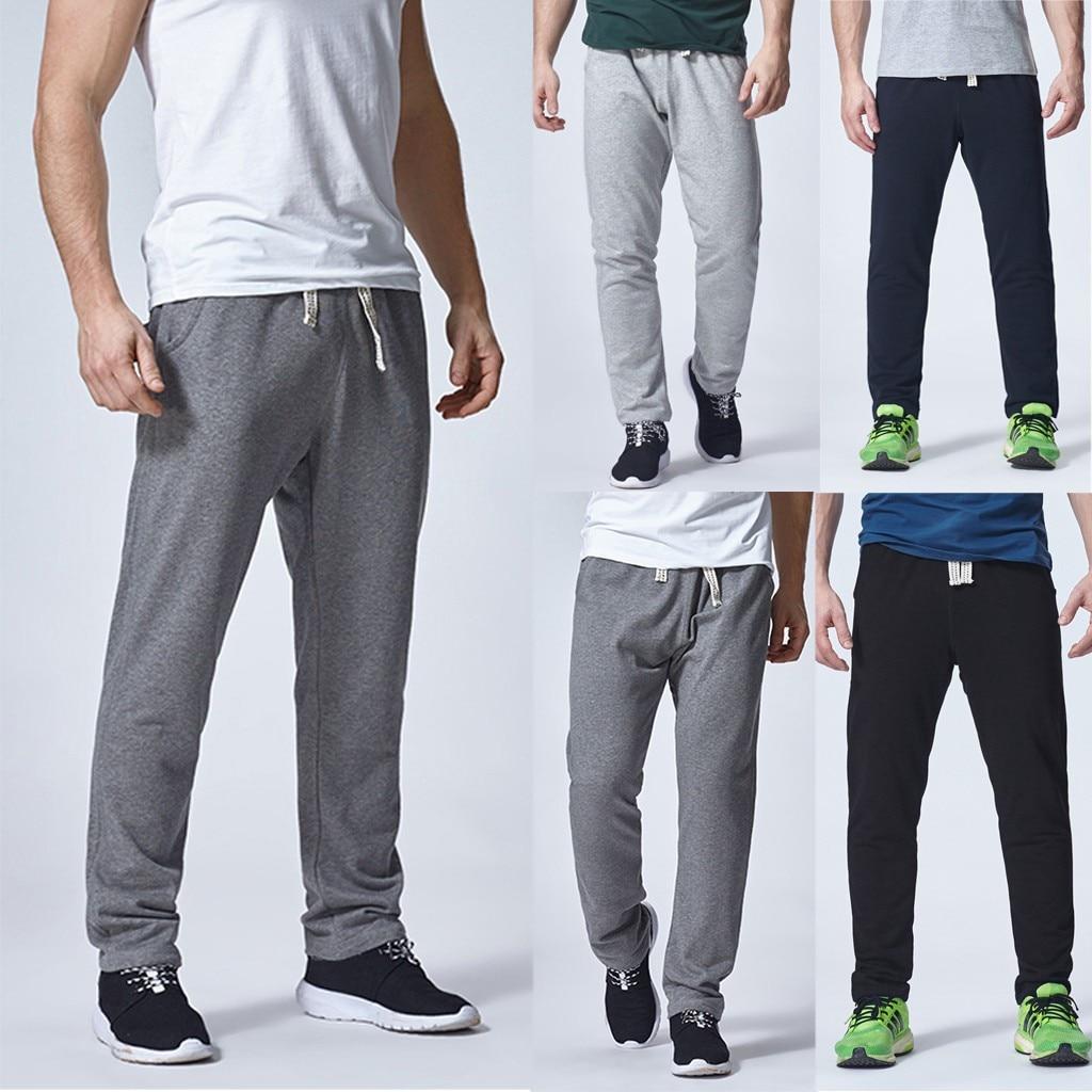 2019 Summer Men's New Solid Sport Breathable Large Size Casual Pants Joggers Streetwear Pantalones Hombre Pantalon Homme