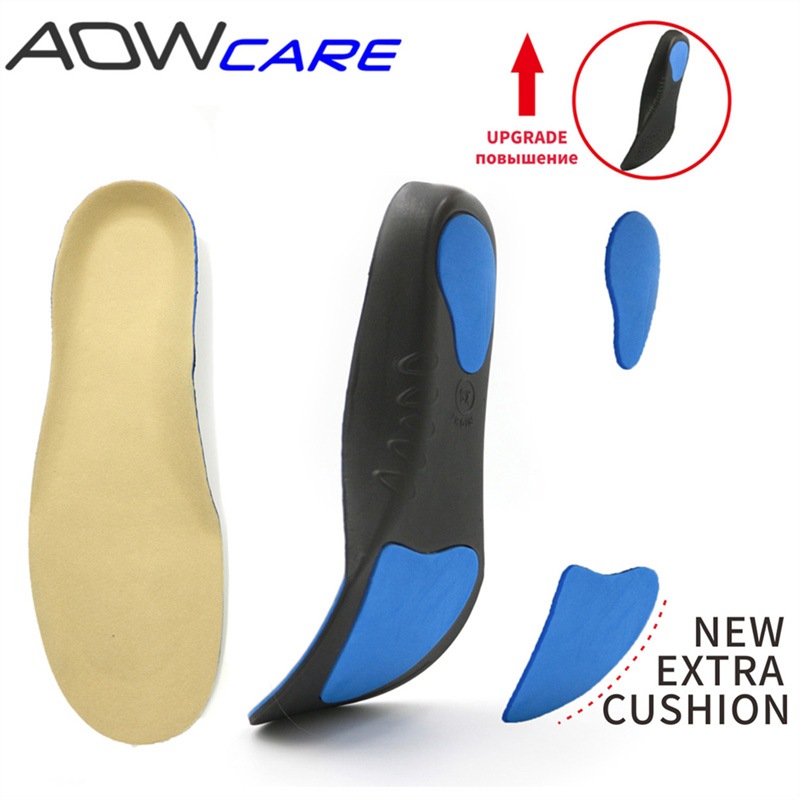 Orthopedic insole arch support insert for flat foot orthotic sole for shoes plantar fasciitis pad foot care man and women feet expfoot orthotic arch support shoe pad orthopedic insoles pu insoles for shoes breathable foot pads massage sport insole 045