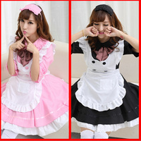 Sexy French Maid Costume Sweet Gothic Lolita Dress Anime Cosplay Japanese Sissy Maid Uniform Halloween Costumes Lolita For Women