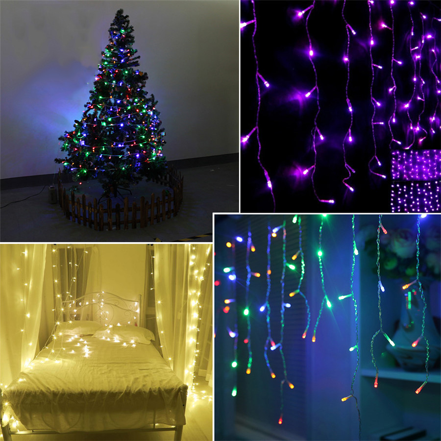 5m 50led led string decoration light battery operated christmas tree winter snow night led lights thanksgiving day party light in led string from lights - Battery Operated Christmas Tree