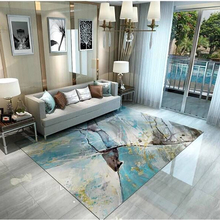 Modern Simple Nordic Home Decor Carpet Living Room Coffee Table Carpets Anti-slip Flannel Large Rug Abstract Printing Mats
