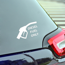 цены 14cm*8.1cm Interesting Diesel Fuel Only Car Sticker Warning Vinyl Decoration Graphic Vinyl Decals