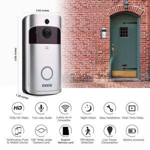 Image 3 - EKEN V5 WIFI dzwonek Smart IP wideodomofon wideodomofon kamera do drzwi do mieszkań IR Alarm bezprzewodowa kamera do monitoringu