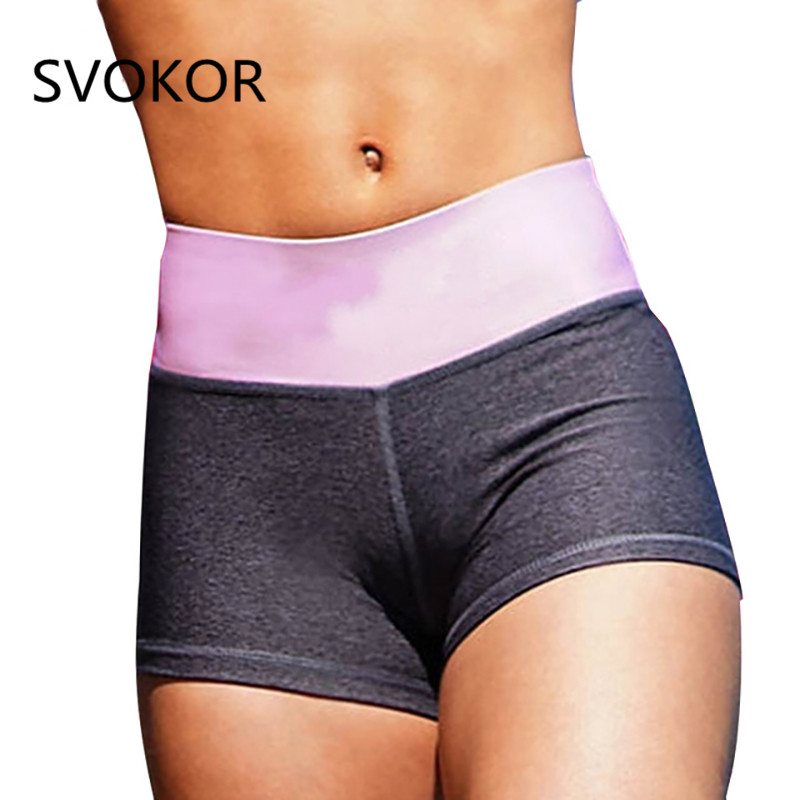 SVOKOR Solid  Sexy Women Shorts Summer Push Up Workout Plus Size Breathable Slim Elasticity Rave Festival Women Shorts 4 Color
