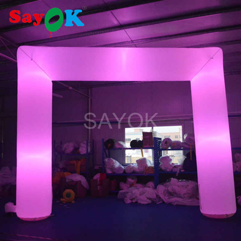 Cheap led inflatable arch rental wedding arch advertsing archway with air blower, led li ...